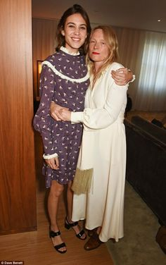 Close contact: English fashion designer Luella Barley held Alexa tightly during the event...