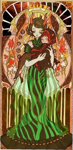 The Dolorosa and The Sufferer from Homestuck, by Dixieplanet.