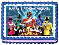 Power Rangers Dino Charge - Edible Cake Topper OR Cupcake Topper Power Ranger Cake Toppers, Power Ranger Cupcakes, Power Ranger Party, Edible Cake Toppers, Birthday Cake Toppers, Birthday Cakes, Power Ranger Samurai, Power Rangers Birthday Cake, Paw Patrol Cake Toppers