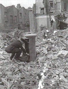 Postman during the London blitz, 1940.  #ToHellAndBack #MariaRosaAuthor…