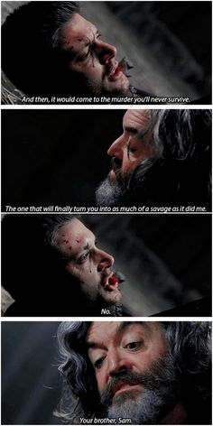 (One of) The scene that broke both Dean and fandom's heart. [gifset] The Executioner's Song #SPN #Dean #Cain