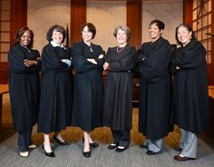 A Courthouse of Their Own, via @Law.com (Left to right: Judges Kandis Westmore, Yvonne Gonzalez Rogers, Phyllis Hamilton, Claudia Wilken, Saundra Brown Armstrong and Donna Ryu)