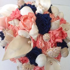 A personal favorite from my Etsy shop https://www.etsy.com/listing/249766921/custom-bespoke-coral-navy-and-ivory