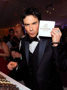 Mmmm Ian somerhalder. Can't you see him as head of a chocolate dynasty in a M&B ladies?