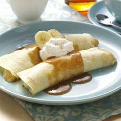 French Banana Pancakes Recipe.
