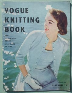 Vogue Knitting Book No. 42 - Vintage Knitting Patterns 1950s -  Womens Sweaters and Cardigans - knitted dresses - 50s original patterns