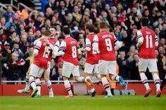 Team Celebrates vs Liverpool in the FA Cup 2013-2014.