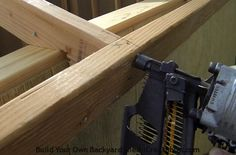 How to build a shed roof installing sub fascia to roof rafters