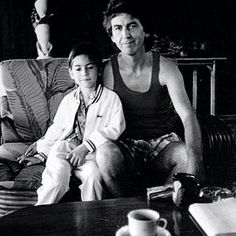 George Harrison with his son Dhani Harrison.