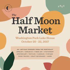 The Half Moon Market — Caroline Corrigan Web Design, Website Design, Social Media Design, Layout Design, Design Art, Design Ideas, Promo Flyer, Branding Design, Logo Design