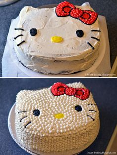 decorate cakes, hello kitti, hello kitty cake, hello kitty birthday, food