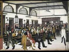 Lowry Ancoats Hospital Outpatients' Hall 1952 The Whitworth Art Gallery The University of Manchester © The estate of L. Lowry All rights reserved, DACS 2013 Salford, Banksy, University Of Manchester, Manchester Art, Tate Britain, Spencer, English Artists, Portraits, Le Havre