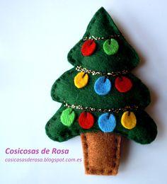 Las Cosicosas de Rosa: Un árbol de Navidad  #broche #fieltro #Navidad