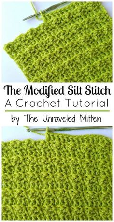The Modified Silt Stitch: a crochet tutorial by The Unraveled Mitten