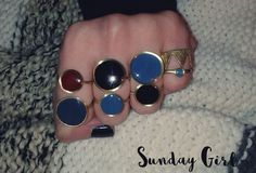 Handmade brass colored rings
