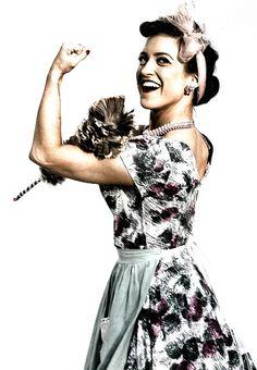 1950's Housewife From 1950's Fair by michael_kennedy_photos, via Flickr, feminine feminism