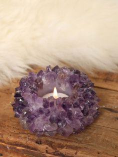 Amethyst Candle Holder - Gypsy Warrior I need this in my life along with so many other gypsy items #GypsyWarrior