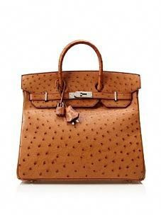 5c8671c3352b This is an Hermes Vintage Ostrich Vachetta HAC Bag...It costs  23