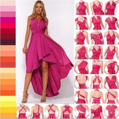 Made from a stretchy, slinky jersey material with a slight sheen, this Multi-Wear Dress, which can be worn in over 24 ways and available in two colours is the perfect convertible color 2016 women maxi dress red bandage Multiway Bridesmaids C Vestido Convertible, Convertible Clothing, Sexy Maxi Dress, Sexy Dresses, Fashion Dresses, Wrap Dresses, Infinity Dress Styles, Infinity Dress Ways To Wear, Vestidos Sexy