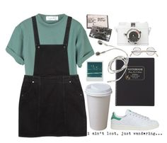 """""""bored"""" by bluealone ❤ liked on Polyvore featuring Monki, Polaroid, Lomography, J.Crew and adidas"""