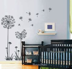 Floral wall decal nursery wall decal flower vinyl by NatureStyle