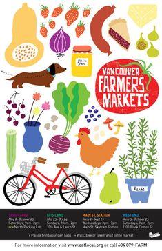 Farmers Market — I love farmer's markets and I love Vancouver!