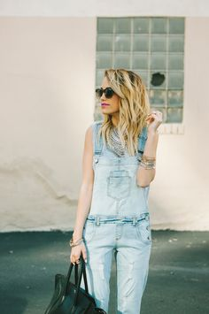 Top: Rag & Bone Overalls: Edyson ( On Sale ) Also Have THESE Shoes: Zara  Sunnies: Nordstrom ( Men Dept.)