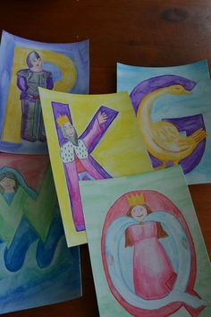 Waldorf ~ grade ~ Letters ~ alphabet cards - older students could make cards Waldorf Preschool, Waldorf Curriculum, Waldorf Kindergarten, Waldorf Crafts, Preschool Literacy, Waldorf Education, Physical Education, Montessori, Alphabet Pictures