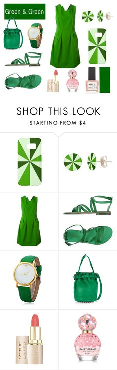 """""""Shades of green"""" by cocodes ❤ liked on Polyvore featuring Samsung, Lanvin, L'Artigiano del Cuoio, Alexander Wang, Marc Jacobs and ncLA"""
