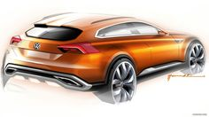 2013 Volkswagen CrossBlue Coupe Concept Wallpaper