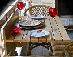 Show details for Folding Wooden Hanging Balcony Table