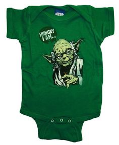 Amazon.com: Star Wars Yoda Hungry I Am Funny Movie Baby Creeper Romper Snapsuit: Clothing