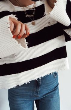 love this striped sweater