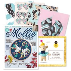 Join the party with Mollie Makes issue 100 Xmas Ornaments, Christmas Tree Decorations, Make Your Own, Make It Yourself, How To Make, Bear Felt, Paper Crowns, Mollie Makes, Felting Tutorials