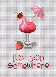 Cocktail cross stitch