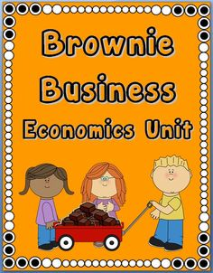 CCSS Brownie Business~  This 3-week project-based unit includes everything needed to plan and execute a school-based Brownie Business, including: project timelines, templates, vocabulary, worksheets, activities, posters, and publicity tools.  The product download is a completely formattable Word document.  Use this fun, ready-to-use economics project to raise money, teach hands-on economics, and have fun, too! $$