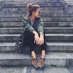 Loved the styling of these very different shoes ... leopard print slip-ons, gladiator sandals, converse, red ankle-strap heels, silver oxfords & the famous Valentino Rockstud flats. All outfits by Silvia @ Bartabacx debra follow on bloglovin' | facebook