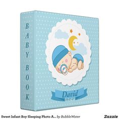 Sweet Infant Boy Sleeping Photo Album Binders