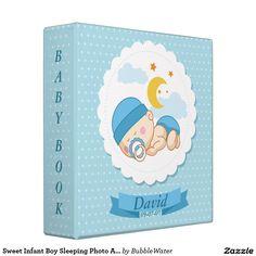 Sweet Infant Boy Sleeping Photo Album Binders