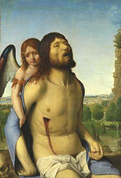 Cristo muerto sostenido por un ángel (Antonello da Messina).