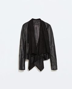 LEATHER JACKET WITH POINTED HEM-Jackets-Outerwear-WOMAN | ZARA United States