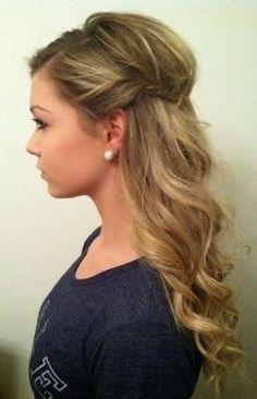 Wedding Hair: Half Up Half Down by caitlin