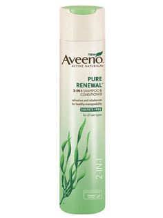 Aveeno Active Naturals Pure Renewal 2-in-1 Shampoo: This natural shmpoo-and-conditioner is sulfate-free and contains detoxifying seaweed extract, making it gentle enough to use daily.   $5.19; drugstore.com #lazygirl #hair