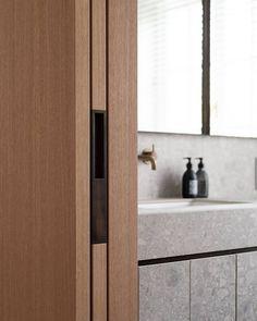 All Posts • Instagram Pocket Doors, Joinery, Double Vanity, Bathroom Medicine Cabinet, Bedroom, Interior, Wall, House, Instagram