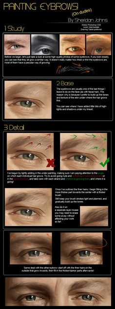 Painting Realistic Eyebrows! by *Sheridan-J on deviantART