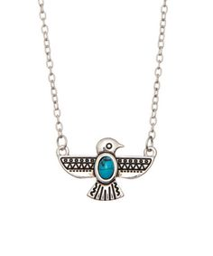 Another great find on #zulily! Turquoise & Silvertone Thunderbird Necklace #zulilyfinds