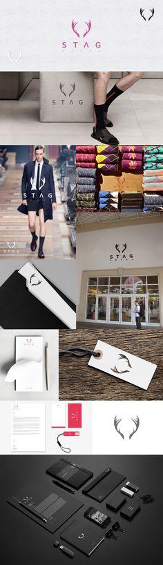Winner of Stag Socks Logo Competition in 99design | Fashion Branding For Men Socks