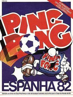 Álbum de Figurinhas Ping Pong Espanha 82 #anos80 #nostalgia