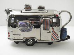 """Teapottery """"Airstream Trailer"""" Novelty Teapot Made in England   eBay"""