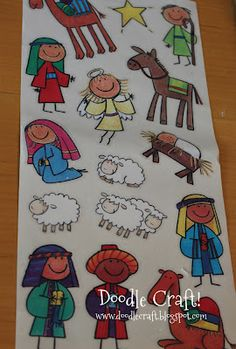 Doodle Craft...: Kid Friendly Wood Block Nativity Set!  Here Lisa see if you can get pics from here